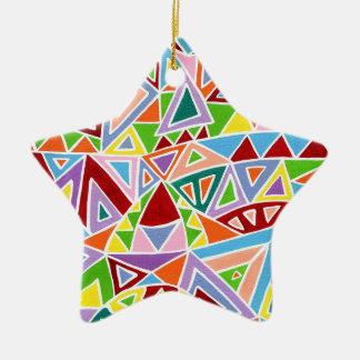 Ornement Étoile En Céramique Triangulation