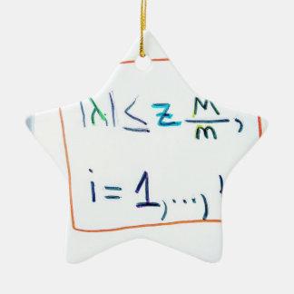 Ornement Étoile En Céramique Un hypercube dans l'espace de k