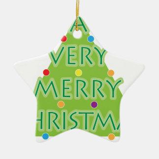 Ornement Étoile En Céramique un Noël très Joyeux
