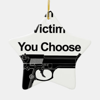 Ornement Étoile En Céramique victime de propriétaire d'arme à feu que vous