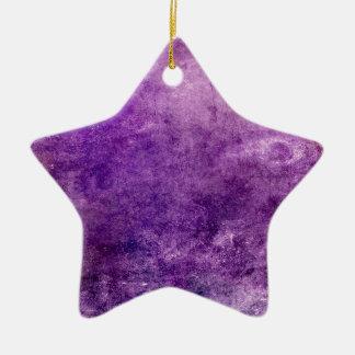Ornement Étoile En Céramique Violette abstraite