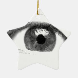 Ornement Étoile En Céramique Visage de vue d'oeil de beaux-arts