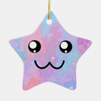 Ornement Étoile En Céramique Vous êtes ainsi visage mignon magique en pastel de