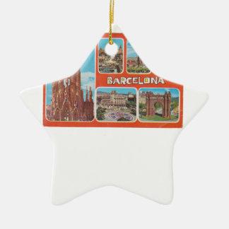 Ornement Étoile En Céramique Vue rétrospective de Barcelone