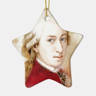Ornement Étoile En Céramique Wolfgang Amadeus Mozart dans l'aquarelle style