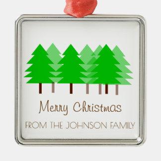 Ornement fait sur commande d'arbres de Joyeux Noël