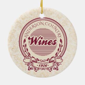 Ornement fait sur commande de Noël de vin de nom