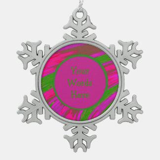 Ornement Flocon De Neige Abrégé sur rose lumineux bruissement de couleur