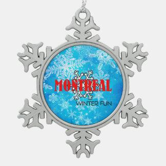 Ornement Flocon De Neige Amusement SUPÉRIEUR d'hiver de Montréal