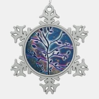 Ornement Flocon De Neige Arbre d'ornement de flocon de neige de la vie