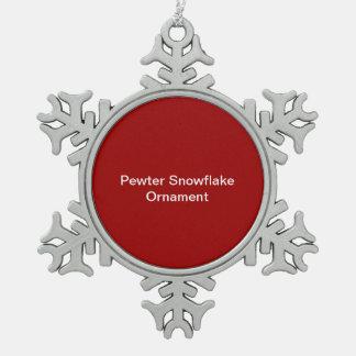 Ornement Flocon De Neige Arrière - plan de rouge d'ornement de flocon de ne