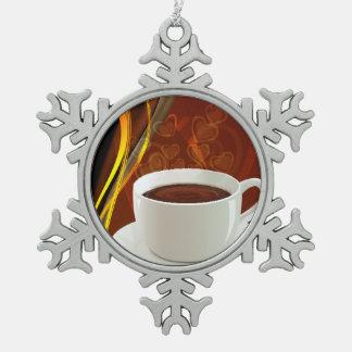 Ornement Flocon De Neige Art de café de café
