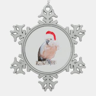 Ornement Flocon De Neige Cacatoès Père Noël