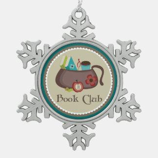 Ornement Flocon De Neige Cadeau élégant de lecture de club de lecture