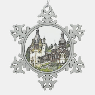 Ornement Flocon De Neige Château fait sur commande Roumanie de Peles