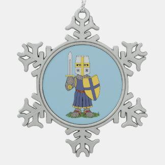 Ornement Flocon De Neige Chevalier médiéval mignon