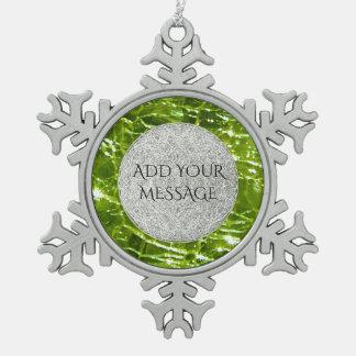 Ornement Flocon De Neige Conception en verre crépitée de pierre