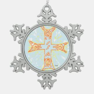 Ornement Flocon De Neige Croix de /Greek d'ornement de flocon de neige