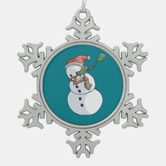 Ornement Flocon De Neige Décor drôle tamponnant de maison de Noël de