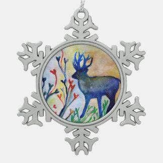 Ornement Flocon De Neige Décoration de flocon de neige d'étain de renne