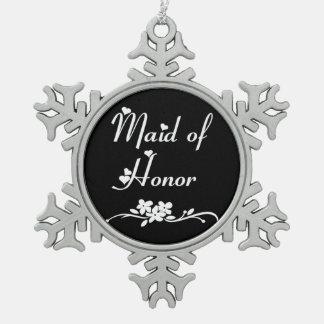 Ornement Flocon De Neige Domestique d'honneur