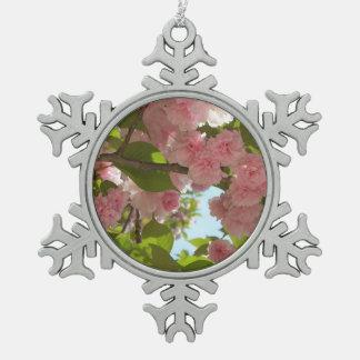 Ornement Flocon De Neige Double ressort se développant du cerisier III