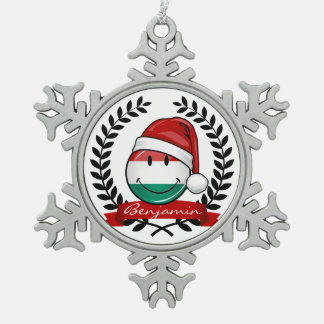 Ornement Flocon De Neige Drapeau de Hongrois de style de Noël