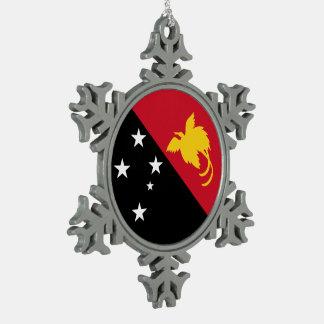 Ornement Flocon De Neige Drapeau de la Papouasie-Nouvelle-Guinée