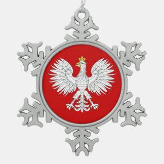 Ornement Flocon De Neige Eagle polonais