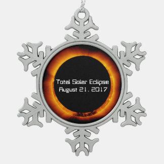 Ornement Flocon De Neige Éclipse 2017 solaire totale
