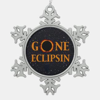 Ornement Flocon De Neige Éclipse solaire ALLÉE d'ECLIPSIN