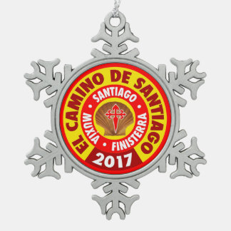 Ornement Flocon De Neige EL Camino De Santiago 2017