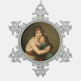 Ornement Flocon De Neige Elisabeth avec sa fille