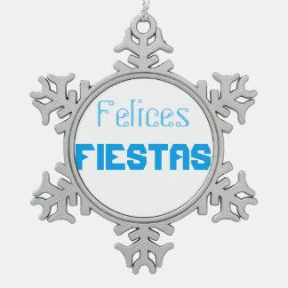 Ornement Flocon De Neige Fiestas de Felices