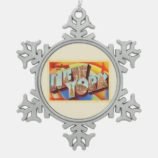 Ornement Flocon De Neige Grande carte postale de voyage de lettre de New