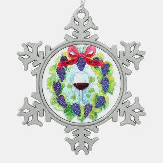 Ornement Flocon De Neige Guirlande de Noël de raisins de cuve du comté de