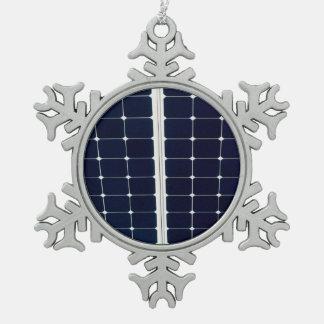 Ornement Flocon De Neige Image d'un panneau d'énergie solaire drôle