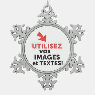 Ornement Flocon De Neige Imprimer vos conceptions en ligne en français