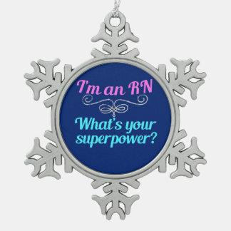 Ornement Flocon De Neige Je suis un super héros de RN