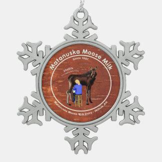 Ornement Flocon De Neige Lait d'orignaux de Matanuska