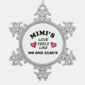 Ornement Flocon De Neige L'amour de Mimi