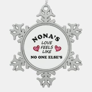 Ornement Flocon De Neige L'amour des Forces navales de la Norvège