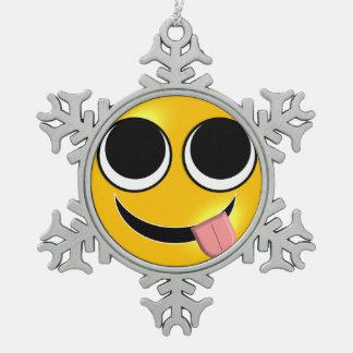 Ornement Flocon De Neige Langue Emoji