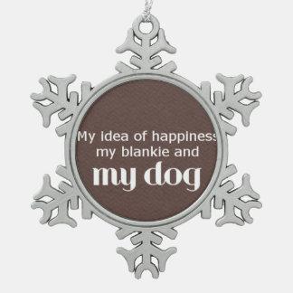 Ornement Flocon De Neige Le bonheur est mon chien