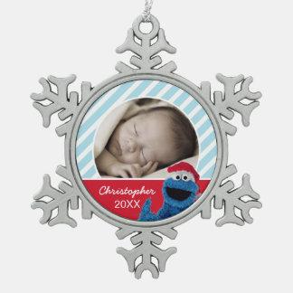 Ornement Flocon De Neige Le casquette Grover de Père Noël | ajoutent votre