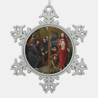 Ornement Flocon De Neige Le Christ portant la croix
