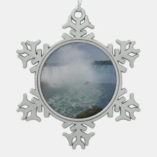 Ornement Flocon De Neige Le fer à cheval tombe dans les chutes du Niagara