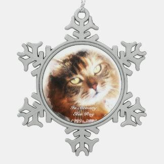 Ornement Flocon De Neige le mémorial d'animal familier ajoutent votre