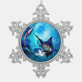 Ornement Flocon De Neige Marlin avec des bulles