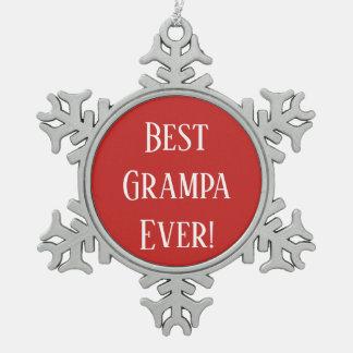 Ornement Flocon De Neige Meilleur Grampa jamais !